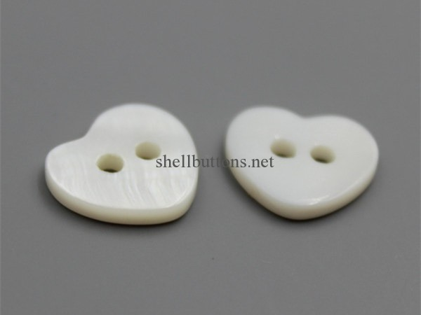 shell heart buttons wholesale
