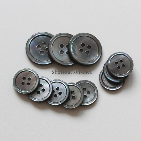 grey smoke mother of pearl suit buttons