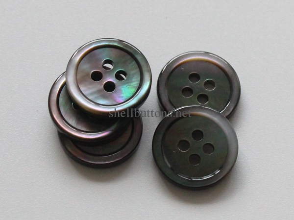 black mother of pearl suit buttons