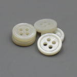 mother of pearl buttons with brand logo