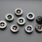 11mm black mother of pearl buttons