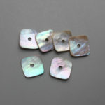 square shapped AGOYA shell buttons with single hole