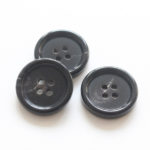 Black Buffalo Horn Blazer Buttons Bulk 15MM 20MM