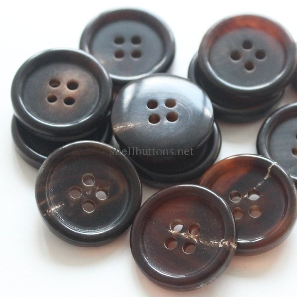 Real Horn Buttons Brown for Blazers Suits 24L 32L