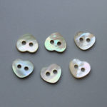 love heart shell buttons wholesale
