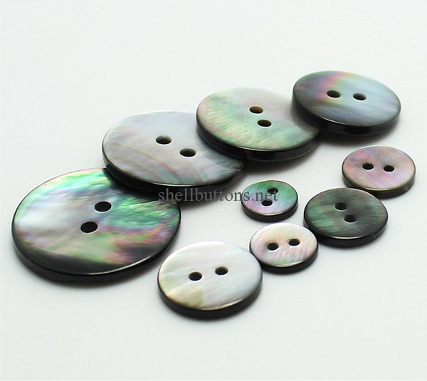 black mother of pearl buttons 13mm